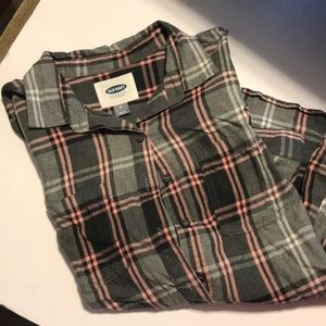 Old Navy cotton long sleeve shirt size M